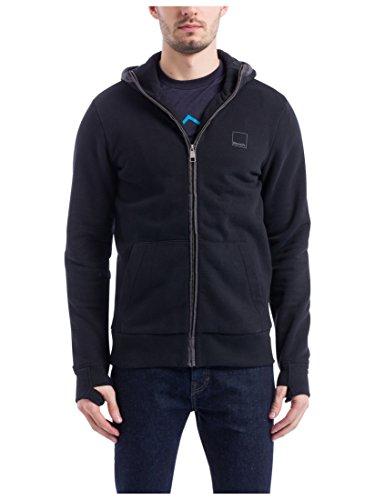 Bench Herren CORE. Sweat Zip Jacket Sweatshirt, Schwarz (Black Beauty Bk11179), XX-Large