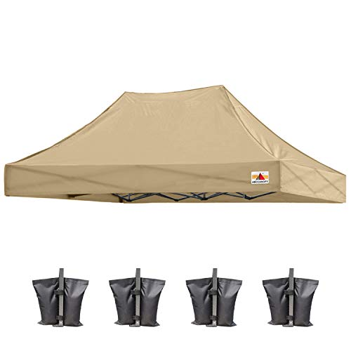 ABCCANOPY 3x4.5 Pop Up Gazebo Replacement Top Cover 100% Waterproof Choose 18+ Colors, Bonus 4 x Weight Bags(3x4.5,Beige)