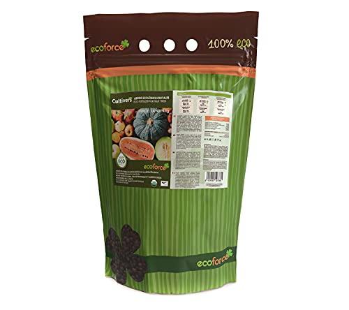 CULTIVERS Abono para Frutales de 5 kg. Fertilizante de Origen 100% Orgánico y Vegano. Mayor Rendimiento y Aumento del Calibre del Fruto (5 Kg), ECO10F00240