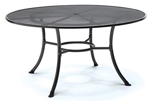 """KETTLER 60"""" Round Mesh Top Table in Gray"""