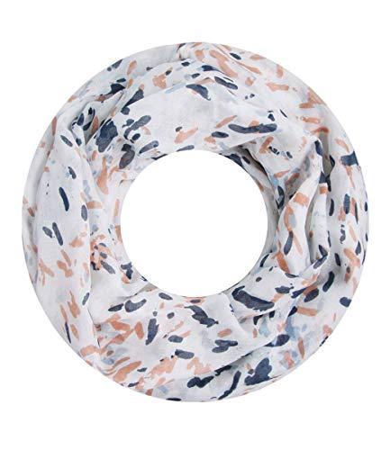 Majea super weicher Damen Loop Schal viele Farben Muster Schlauchschal Halstuch in aktuellen Trendfarben (blau 17)
