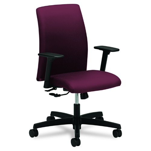 Big Sale HON Ignition Series Low-Back Task Chair, Wine Fabric Upholstery