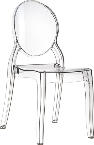Casa Padrino Designer Chair - Ghost Chair Clear - Polycarbonate Furniture