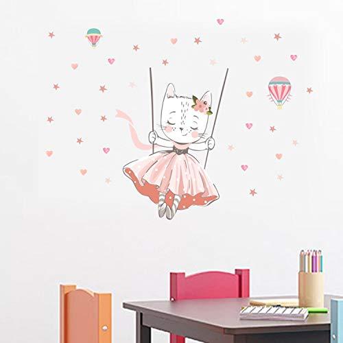 ZYLBL Pegatinas de pared de PVC para dormitorio de niñas sala de estar autoadhesivas, para decoración del hogar, 2 unidades