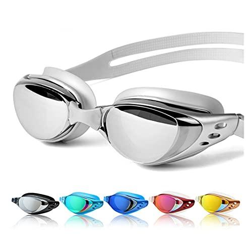 SPFCJL Gafas de natación Myopia Hombres y Mujeres Anti-Niebla Profesional Impermeable Silicone Arena Piscina Gafas de natación Adult Eyewear (Color : Black)