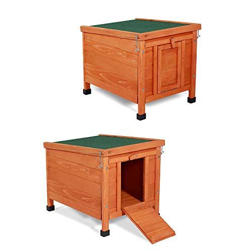 Dibea RH10017 Casa / Capanna di legno per piccoli animali, 43x43x52 cm