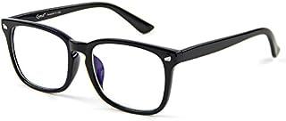 Cyxus Blue Light Filter Computer Glasses for Blocking UV Headache [Anti Eye Eyestrain] Transparent Lens Gaming Glasses, Unisex (Men/Women) (8082T01, Classic Black)