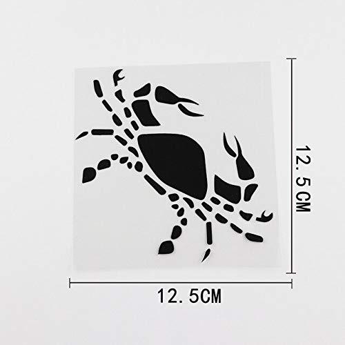 A/X Car sticker 12.5CMX12.5CM Crab Zodiac Logo Astrology Birth Sign Vinyl Car Sticker Black/Silver 8A-0073 Black