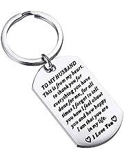 ENSIANTH aan mijn man sleutelhanger cadeau voor man verjaardag geschenken Soulmate sleutelhanger man geschenken van vrouw