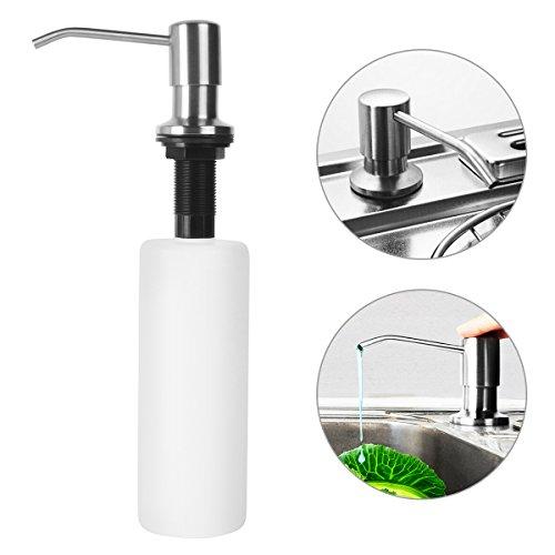 Uvistar Seifenspender Shampoospender Gelspender Spülmittelspender 500ML Set Nachfüllbar Edelstahl für Dusche Küche Bad/Soap Dispenser Seifen Lotion Spender Dispenser für Hotel