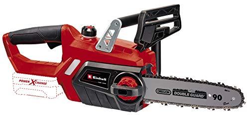 Einhell GE-LC 18/25 Li - Solo - Motosierra a batería Power X-Change 18 V, longitud de corte: 23 cm, velocidad de corte: 4.3 m/s, cadena y espada Oregon