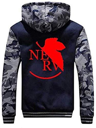 Bkckzzz Neon Genesis Evangelion Anime Personalizado Edgy Art Thicken Hoodie Sudadera Hombre Cosplay Camo Sportswear Cardigan Jacket @ L_02