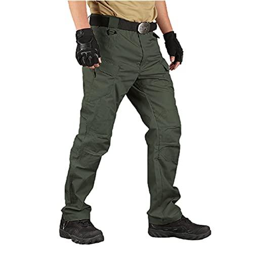 123 Life Water Repellent Ripstop Cargo Pants, Pantalones De Hombre De Trabajo Cargo, Tactical Pants for Men (4XL,Green)