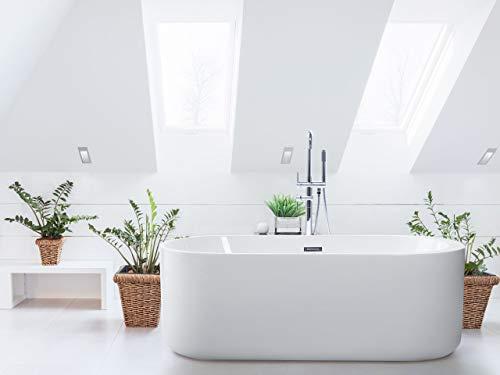 Freistehende Badewanne ovale Form Sanitäracryl weiß Vinales