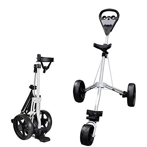 Golftrolley Golfwagen 3-Rad-Golf Push-Trolley, Folding Golf Pull Trolley, for Golf-Bag Outdoor Golf Sport Trainingsspiel Flughafen Gepäck prüfen Trägerwagen Golf Caddy