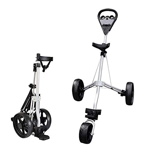 HLR Golftrolley Zieh Golfcarts 3-Rad-Golf Push-Trolley, Folding Golf Pull Trolley, for Golf-Bag Outdoor Golf Sport Trainingsspiel Flughafen Gepäck prüfen Trägerwagen Golf Caddy