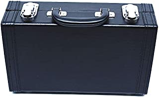 Arcity Leather Clarinet Case Hard Gig Bag Handheld Buckle Reed Holder Black Water-resistant Durable New