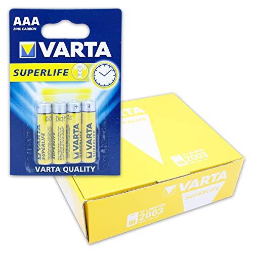 Varta 12X 45182 Superlife R03/AAA (Micro) (2003) - Zinkchlorid Batterie, 1, 5 V