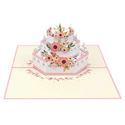Favour Pop Up Lyckokort till bröllopet. På minsta rum kan ett filigran konstverk som uppfälls som bröllopsfester när du öppnar den. TW049 (bröllopstorder)