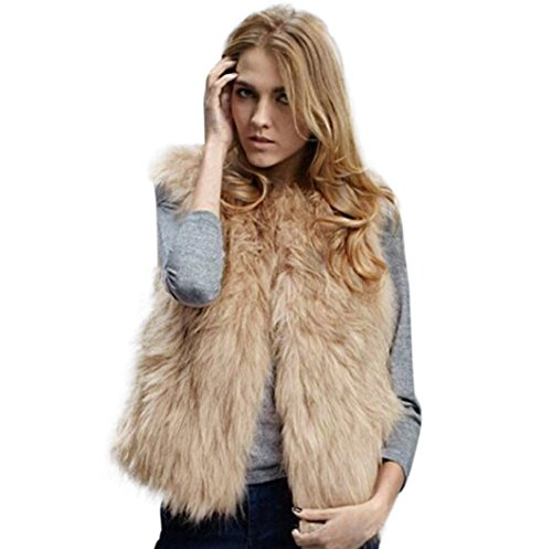 TWIFER Damen Herbst Winter Weste Ärmellos Oberbekleidung Mantel Khaki Kurz Jacke S-3XL (M, Khaki)