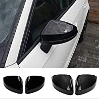 DDNAF バックミラーケースカバーカーボンファイバーパターンまたはブラックカバー、アウディA3 S3 8V RS3 2013 2014 2015 2016 2017 2018 2019