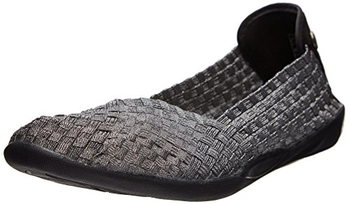 Bernie Mev Women's Braided Catwalk Flat, Pewter, 38 M EU / 7.5-8 B(M) US