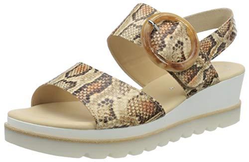 Gabor Shoes Damen Casual Riemchensandalen, Beige (Desert 32), 39 EU