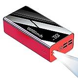 Dygzh Cargador Portátil, Batería Externa 2.1A Carga rápida Capacidad Ultra Alta 80000 mAh Power Bank con 4 Salidas y 3 Entrada, Cargador de Móvil 5V Banco de Energía para i-Phone S-amsung y más