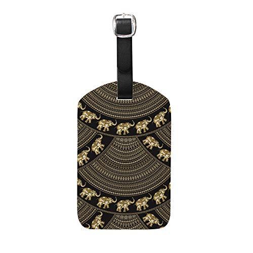 Ruchen - Etiquetas para Equipaje, diseño de Elefantes Indios con Forma de...