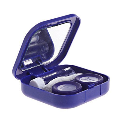 MYBOON Estuche para Lentes de Contacto Kit para el Cuidado de los Ojos Contenedor Regalo Viaje Accesorios portátiles Lente presbiópica Azul