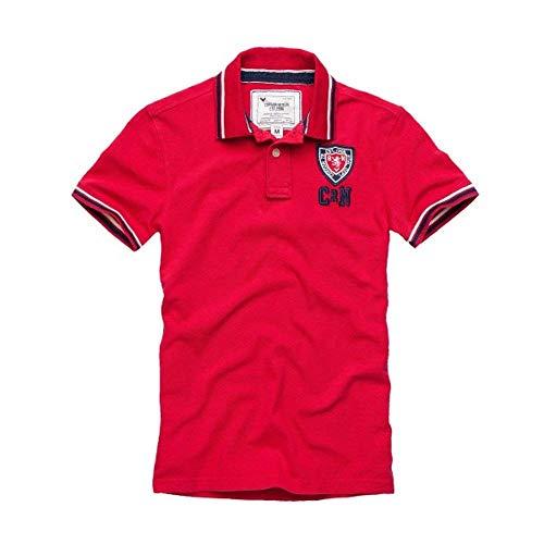 Cordon Sport Berlino Polo Uomo T-Shirt Brian Polo Rosso - Rosso (529 Sunset), S