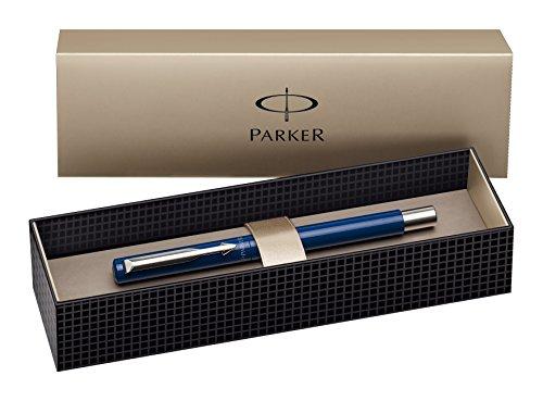 Parker Vector - Pluma estilográfica de punta media, color negro