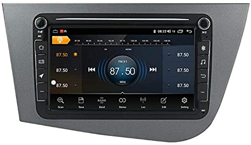 KLL Android 10.0 Autoradio Multimedia per Seat Leon 2005-2012, Supporto Navigatore GPS ad Alta Definizione/DSP DVR USB WLAN/Bluetooth Vivavoce/Mirror Link