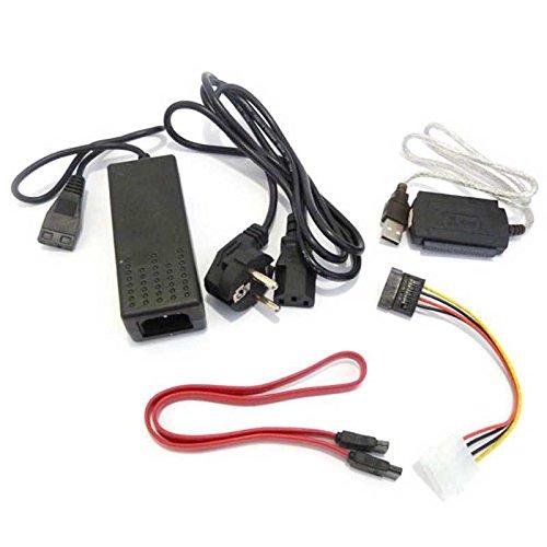 OcioDual Cable Adaptador IDE Sata 2.5/3.5 A USB Conversor Disco Duro HDD DVD Alimentacion