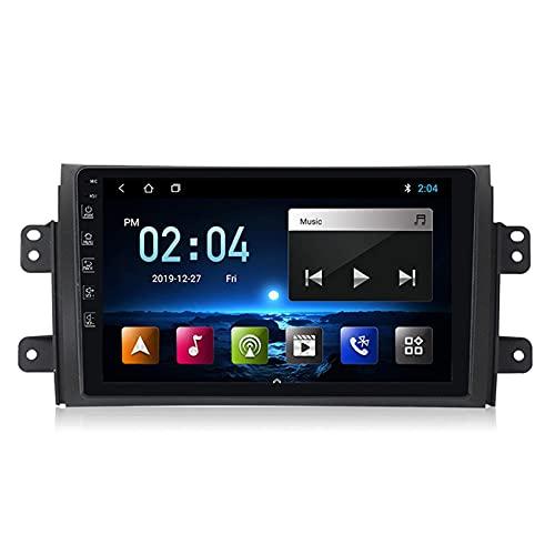 Android Radio Coche 2 DIN GPS Navi Autoradio estéreo 2.5D Pantalla táctil para Suzuki SX4 2011-2015 FM Receptor móvil Enlace de Espejo con Incorporado Carplay+DSP(M300/PX6),M300,3+32G