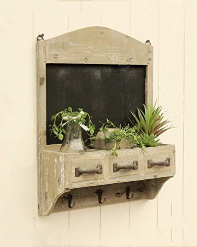 HUNYUAN-LF Walled Tafel Flower Stand Retro Holz Wand Pflanze Blumen Blumen-Shop Shop Nachricht Bulletin Board Haken Hängen (Color : A)