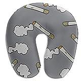 Almohada para bebé Fumar cigarrillos Disfrute de una forma de U Protector de almohada de cuello de espuma de memoria Soporte de almohada de cabeza Almohada de viaje cervical Almohada de cuello de coch