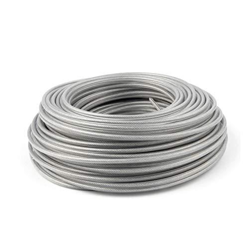 Graciella 2,6/3,0 mm 450g Trimmer Cuerda de Alambre de Cable de línea Strimmer Desbrozadora reemplazo de Recorte Redondo Largo Rollo de césped Alambre sobre 45-60M Graciella