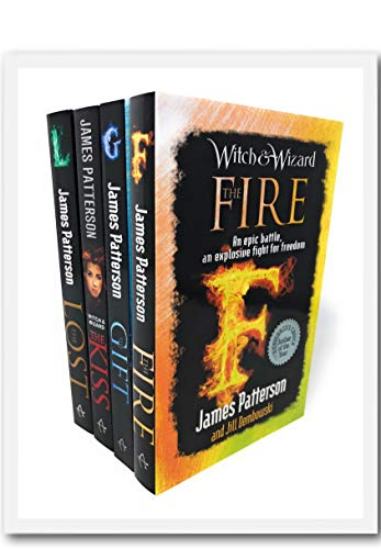 James Patterson Witch & Wizard Series Collection 4 Books Set (The Fire, The Kiss, The Lost, The Gift)