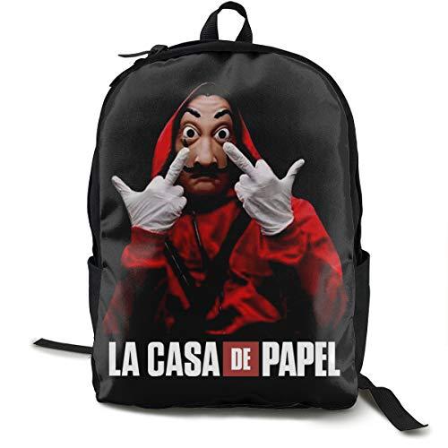 La Casa De Papel - Mochila, mochila de día para escuela, trabajo y universidad, mochila...