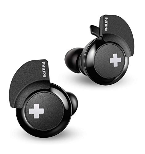Philips Bass+ SHB4385 Wireless Bluetooth in-Ear Earbuds, TWS with Up to 6+6 Hours of Playtime, 3 Sizes Ear Tips, Charging Case - Black (SHB4385BK)