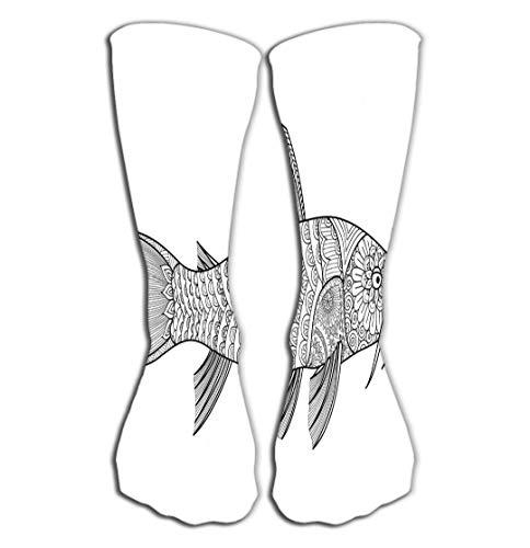 Hohe Socken Compression Socks for Women und Men - Best for Running, Athletic Sports, Crossfit, Flight Travel 19.7