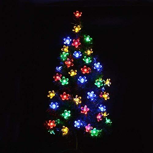 CDIYTOOL Guirnalda de luces LED solares, 50 luces LED para exteriores, funciona con energía solar, 7 m, 8 modos, resistente al agua, decoración de jardín para patio, césped, fiestas, multicolor