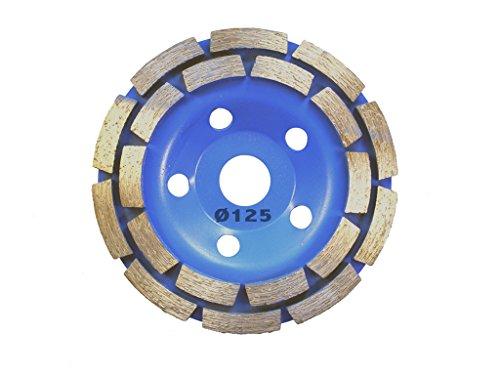 Diamant Schleiftopf 125 mm für Betonschleifer. Diamantschleiftopf für Winkelschleifer 22,23mm. Topfscheibe Schleifteller Schleifscheibe