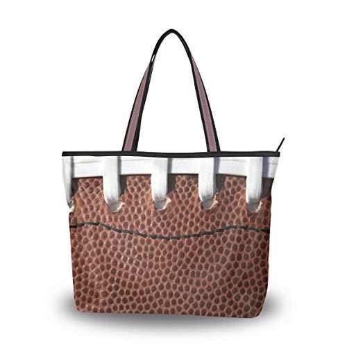 Ahomy Frauen Handtaschen, American Football Hintergrund Mode Damen Tote Bag Schultertasche Casual Geldbörse, Mehrfarbig - multi - Größe: L