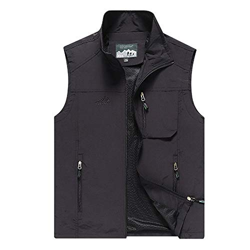 Heren Daily Fall & Winter Regular Vest, Effen Gekleurde Stand Mouwloos