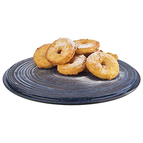 """APS Torten- Konditorplatte """"Loops"""", Kuchenplatte, Tortenplatte aus Melamin, Ø 30,5 x Höhe 2,5 cm, grau blau"""