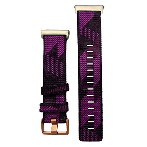 KADIWOAD Pulsera de la Correa de la muñeca de 2020 Nylon para el Reloj OPPO 46mm Banda DE Reloj Suave CURANTE TRILLAS DE CULTIVAS TRANSPURTADAS para OPPO (Color : Purple)