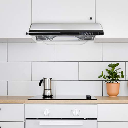 "Hauslane | Chef Series Range Hood C190 30"" Slim Under Cabinet Kitchen Extractor 