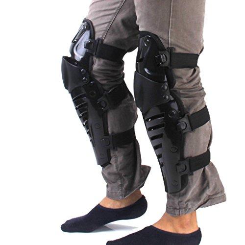 Yeah67886 Off-road Moto Racing Vélo genou Guard Pads équipement de protection (Noir)